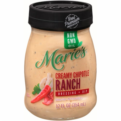 Marie's Creamy Chipotle Ranch Dressing + Dip Perspective: left
