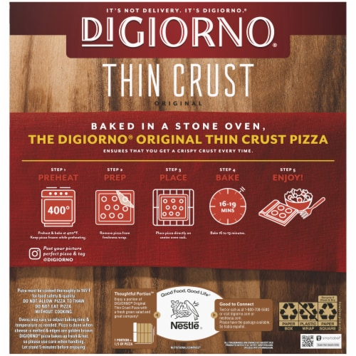 DiGiorno Original Thin Crust Supreme Pizza Perspective: left