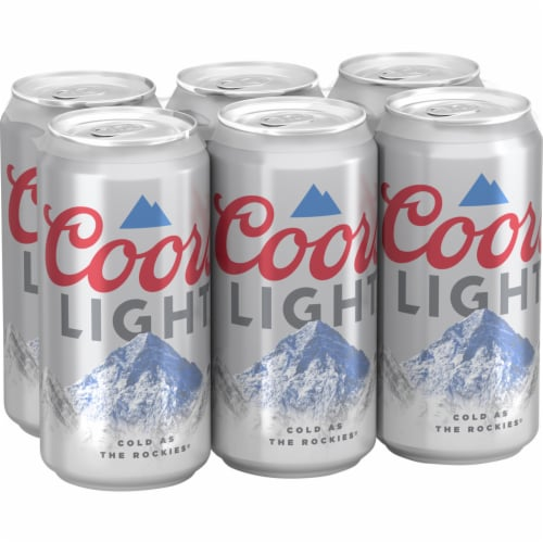 Coors Light® American Lager Beer Perspective: left