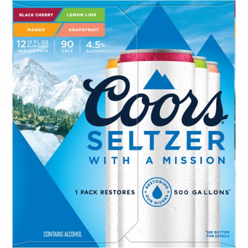 Coors Gluten Free Hard Seltzer Variety Pack Perspective: left