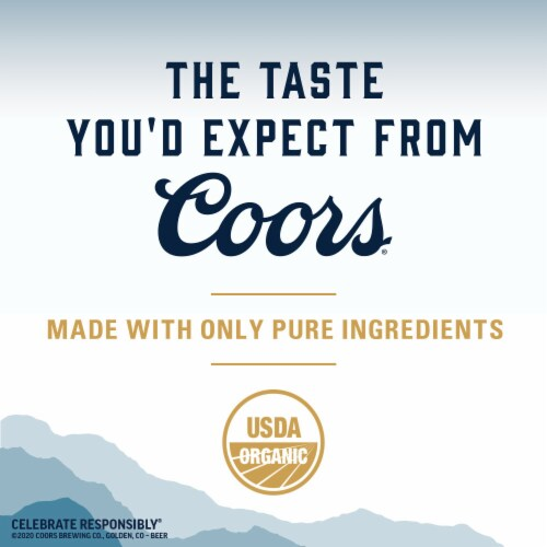 Coors Pure Light Beer Perspective: left