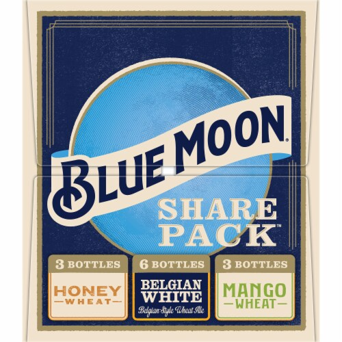 Blue Moon Ale Beer Variety Pack 12 Bottles Perspective: left