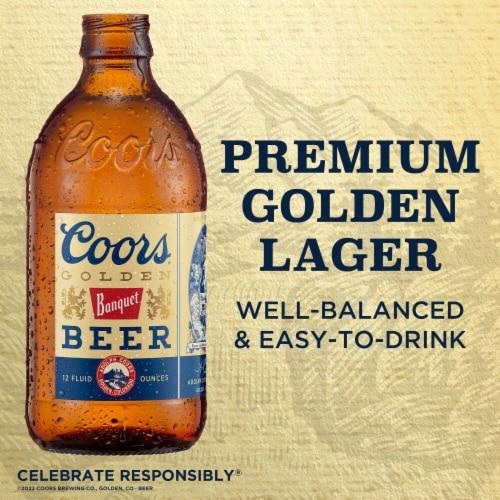 Coors Banquet Lager Beer 20 Bottles Perspective: left