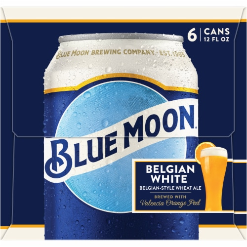 Blue Moon Belgian White Belgian-Style Wheat Ale Perspective: left