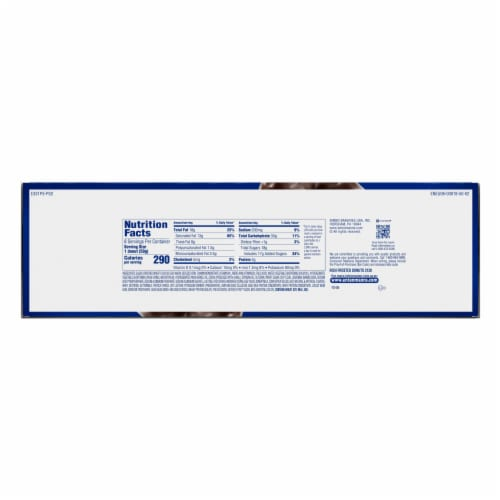 Entenmann's Rich Chocolate Frosted Donuts Perspective: left