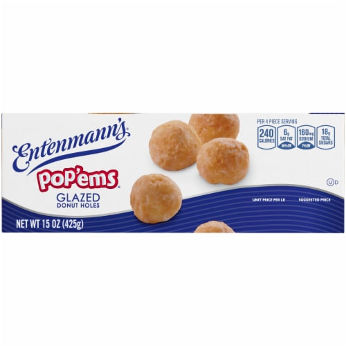 Entenmann's Pop'ems Glazed Holes Perspective: left