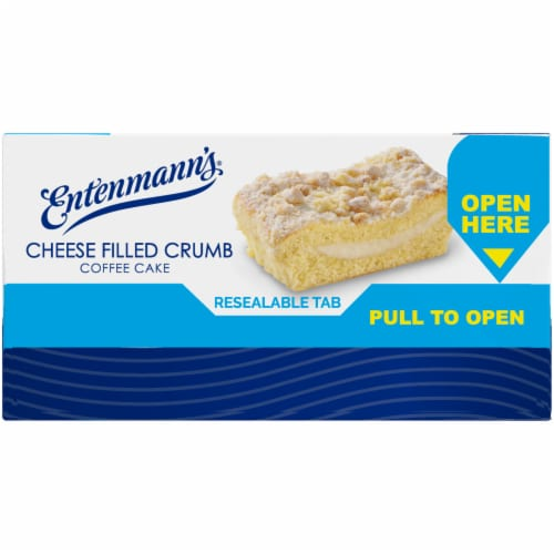 Entenmann's Cheese Filled Crumb Coffee Cake Perspective: left