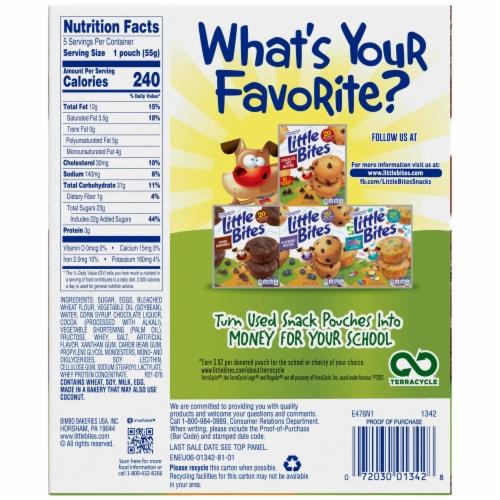 Entenmann's® Little Bites® Fudge Brownies Pouches Perspective: left