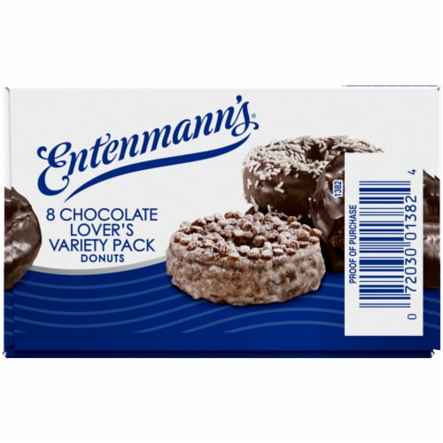 Entenmann's Chocolate Lover's Variety Pack Donuts Perspective: left