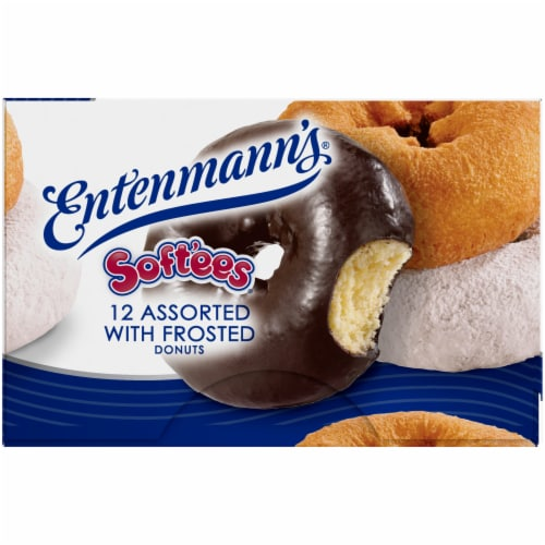 Entenmann's Soft'ees Assorted Frosted Donuts Perspective: left