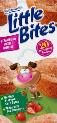 Entenmann's Little Bites Strawberry Yogurt Muffins Perspective: left
