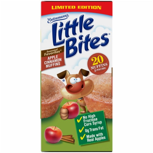 Entenmann's Little Bites Apple Cinnamon Muffins 5 Count Perspective: left