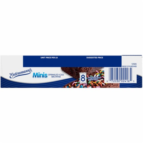 Entenmann's® Minis Sprinkled Iced Brownies Perspective: left
