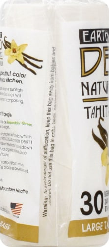 Deco Earth Friendly Natural Scent Fresh Lemon Large Tall Kitchen Trash Bags Perspective: left