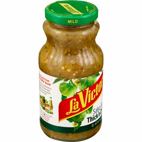 La Victoria Mild Thick 'n Chunky Salsa Verde Perspective: left