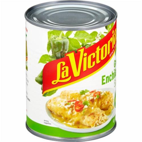 La Victoria Mild Green Enchilada Sauce Perspective: left