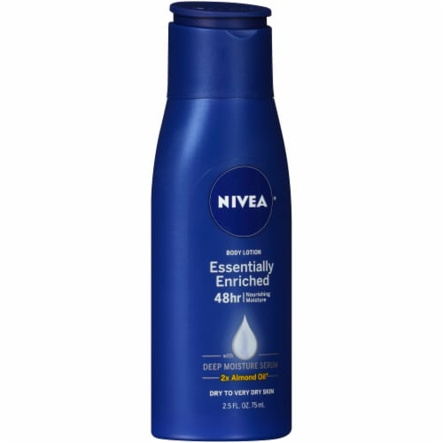 Nivea Essentially Enriched Travel Size Body Lotion Perspective: left