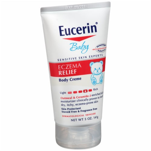 Eucerin Baby Eczema Relief Body Creme Perspective: left