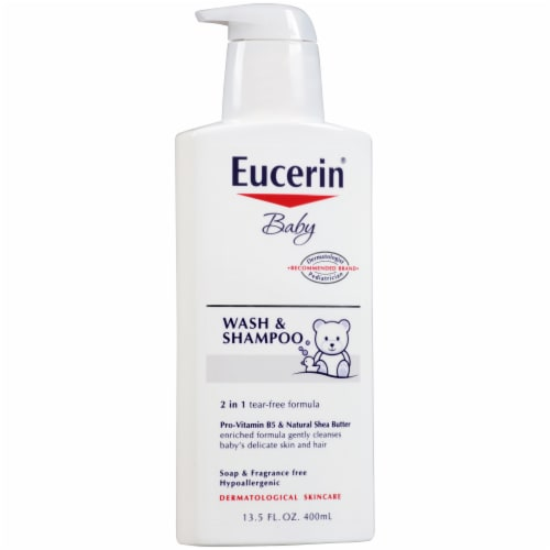 Eucerin Baby Wash & Shampoo Perspective: left