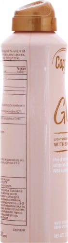 Coppertone Glow with Shimmer Sunscreen Spray SPF 50 Perspective: left