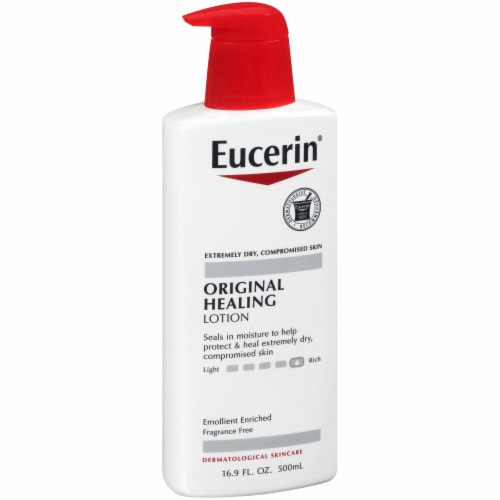 Eucerin Original Healing Body Lotion Perspective: left