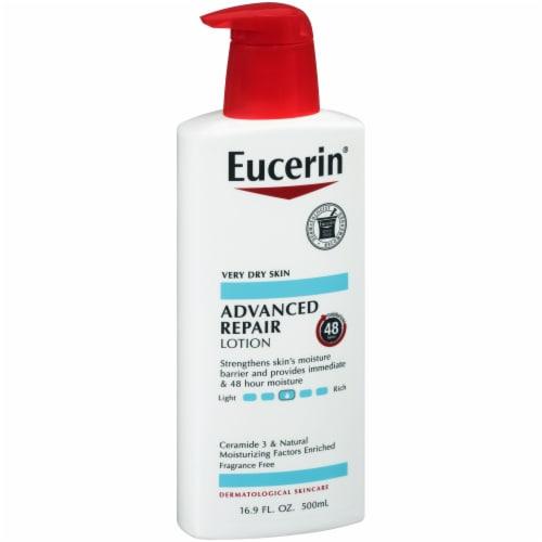 Eucerin Advanced Repair Lotion Perspective: left