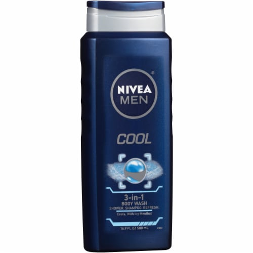 Nivea Men Cool 3-in-1 Body Wash Perspective: left