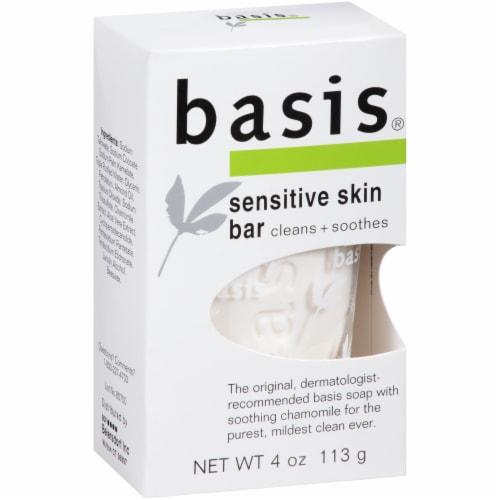 Basis Sensitive Skin Bar Soap 4 oz Perspective: left