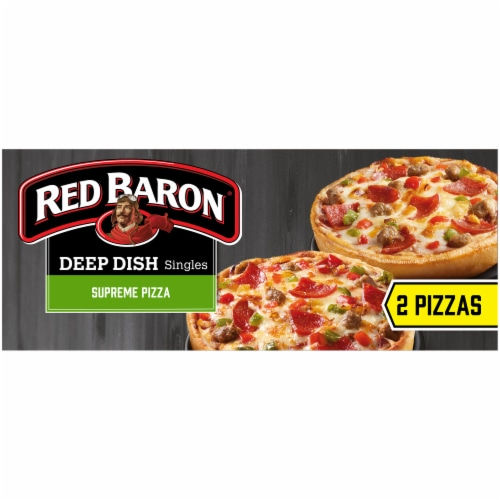 Red Baron Singles Deep Dish Supreme Pizza Perspective: left