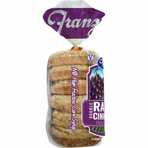 Franz Double Raisin Cinnamon English Muffins Perspective: left
