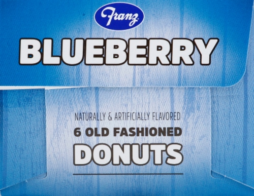 Franz Blueberry Old Fashioned Donut Perspective: left
