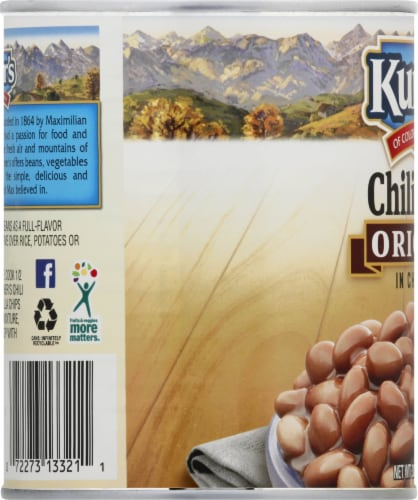 Kuner's Original Chili Beans in Chili Sauce Perspective: left