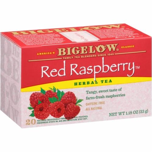 Bigelow Red Raspberry Herbal Tea Perspective: left