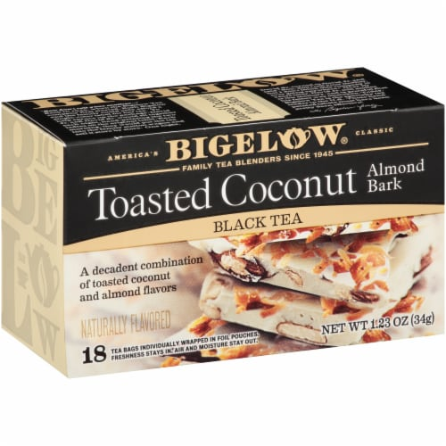 Bigelow Toasted Coconut Almond Bark Black Tea Perspective: left