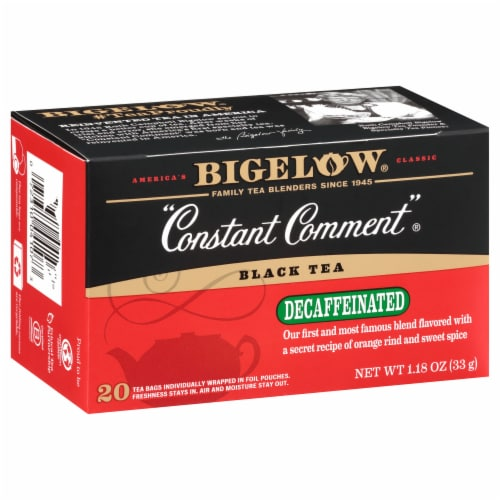 Bigelow Constant Comment Decaffeinated Black Tea Perspective: left