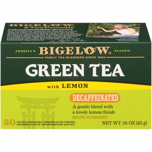 Bigelow Decaffeinated Green Tea with Lemon Bags Perspective: left