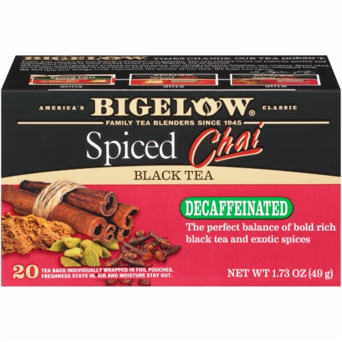 Bigelow Spiced Chai Decaffeinated Black Tea Perspective: left