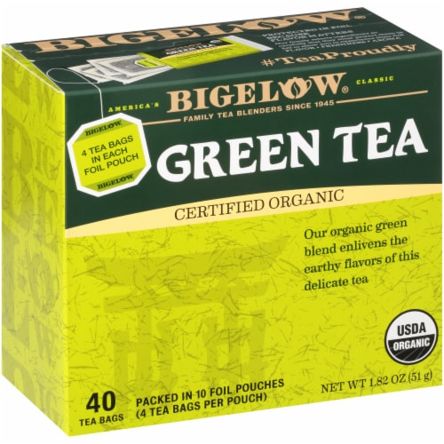 Bigelow Organic Green Tea Bags Perspective: left
