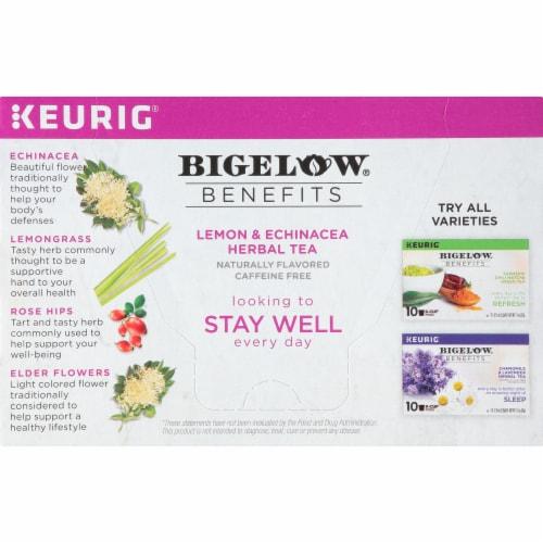 Bigelow Benefits Lemon & Echinacea Herbal Tea K-Cup® Pods Perspective: left