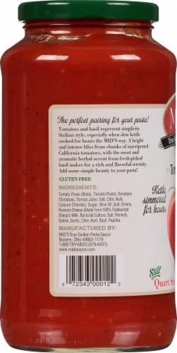 Mid's Tomato Basil Mushroom Sauce Perspective: left