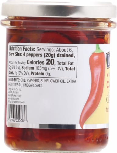 DeLallo Calabrian Chili Peppers Perspective: left