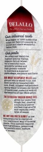 DeLallo Organic Whole Wheat Rigatoni No 21 Perspective: left