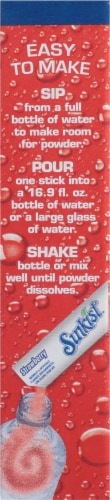 Sunkist® Soda Singles to Go Strawberry Drink Mix Perspective: left