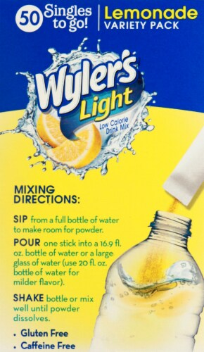 Wyler's Light Singles Drink Mix To Go Variety Pack Perspective: left