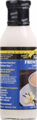 Walden Farms French Vanilla Calorie Free Coffee Creamer Perspective: left