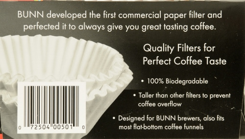 Bunn White Coffee & Tea Filters Perspective: left