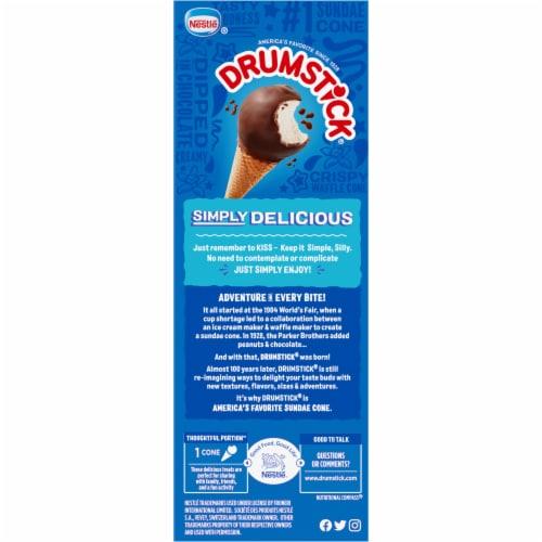 Drumstick Simply Dipped Vanilla Ice Cream Sundae Cones Perspective: left