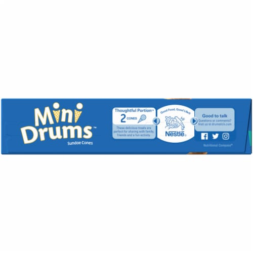 Drumstick Mini Drums Simply Dipped Vanilla Cones Perspective: left
