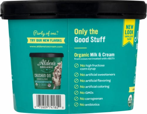 Alden's Organic Cookies & Cream Ice Cream Perspective: left