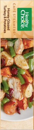 Healthy Choice Café Steamers Honey Glazed Turkey & Potatoes Perspective: left